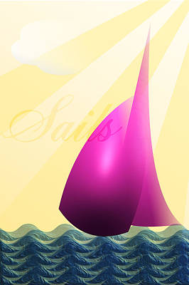 Digital Art - Sails by Trevor Wintle