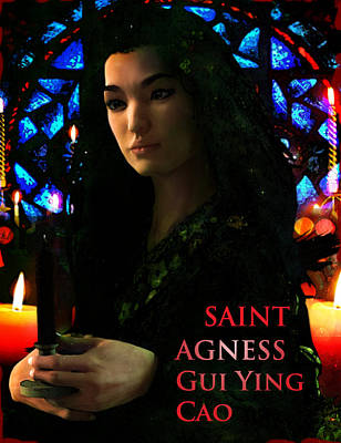Saint Agnes Gui Ying Cao Of China Art Print by Suzanne Silvir