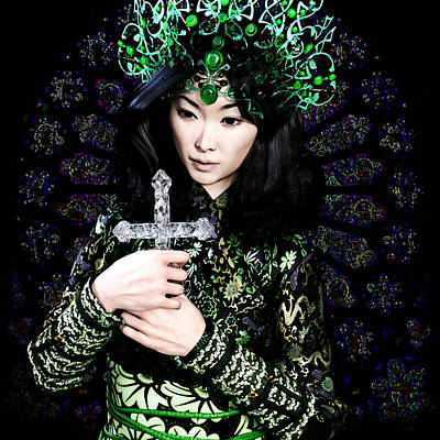 Digital Art - Saint Agnes Le Thi Thanh 14 by Suzanne Silvir