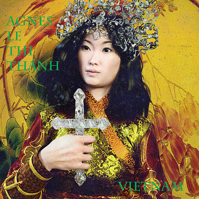 Digital Art - Saint Agnes Of Vietnam 13 by Suzanne Silvir