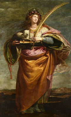 Painting - Saint Agnes by Vincenzo Carducci