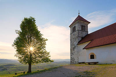 Church Photograph - Saint Ana Church Near Ljubljana by Blaz Gvajc