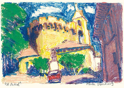 Art Print featuring the painting Saint Andiol Provence by Martin Stankewitz