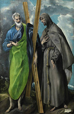 Ap Painting - Saint Andrew And Saint Francis by El Greco