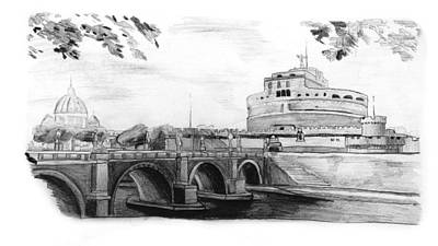 Saint Angel Castle And The Bridge Of The Angels Original by Luca Rosa