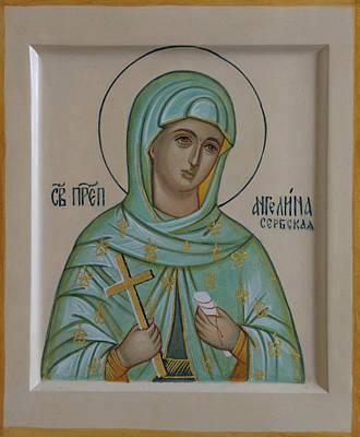 Saint Angelina Art Print