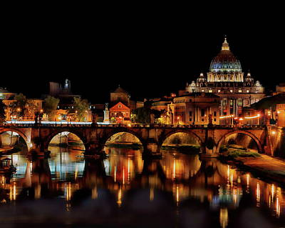 Photograph - Saint Angelo Bridge by Anthony Dezenzio