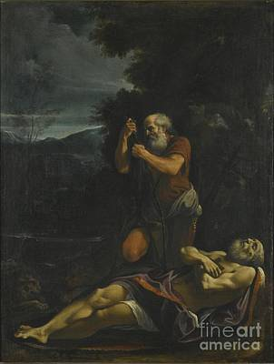 Abbot Painting - Saint Anthony Abbot Burying Saint  by MotionAge Designs