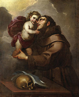 Gioacchino Assereto Painting - Saint Anthony Of Padua With The Christ Child by Gioacchino Assereto