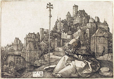 Drawing - Saint Anthony Reading by Albrecht Durer