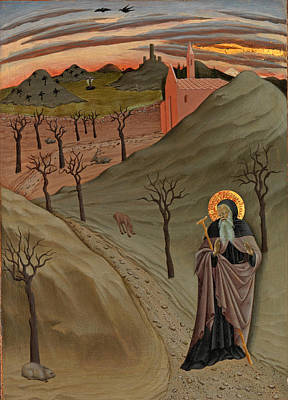 Painting - Saint Anthony The Abbot In The Wilderness by Master of the Osservanza