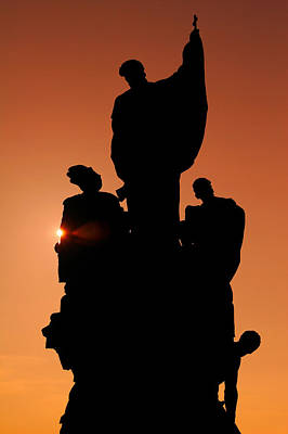 Photograph - Saint At Sunset by Lawrence Boothby