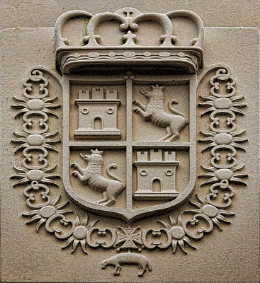 Photograph - Spanish Coat Of Arms - Variant by Gregory Scott