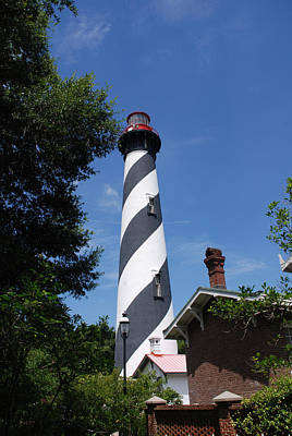The White Stripes Photograph - Saint Augustine Lighhouse by Susanne Van Hulst