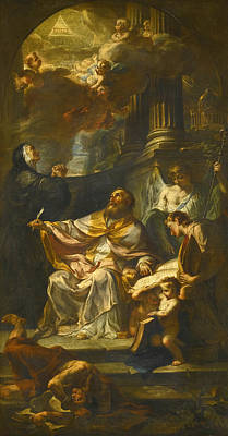 Painting - Saint Augustine Triumphing Over Heresy by Francesco Solimena