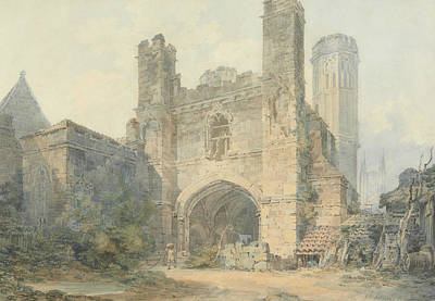 Saint Augustine's Gate Canterbury Art Print by Joseph Mallord William Turner