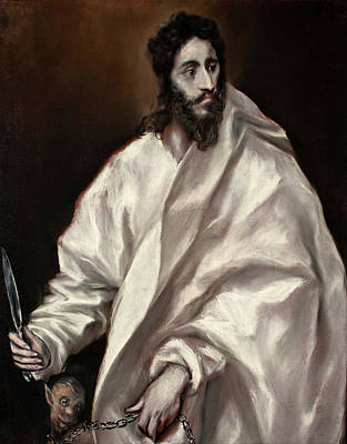 Spanish Painting - Saint Bartholomew by El Greco