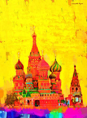 Statue Painting - Saint Basil Cathedral - Pa by Leonardo Digenio