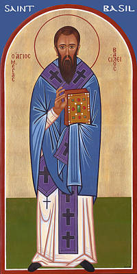 Greek Icon Painting - Saint Basil by Michael Courey