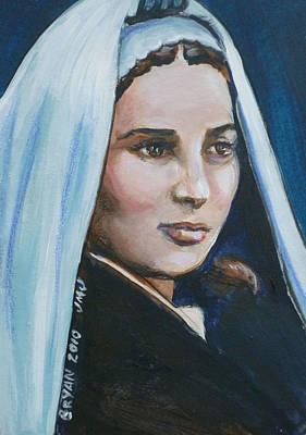 Painting - Saint Bernadette Soubirous by Bryan Bustard