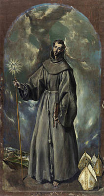 Christian Painting - Saint Bernard by El Greco