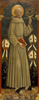 1420 Painting - Saint Bernardino Of Siena by MotionAge Designs