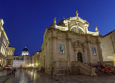 Photograph - Saint Blasius Church, Dubrovnik, Croatia, Hdr by Elenarts - Elena Duvernay photo