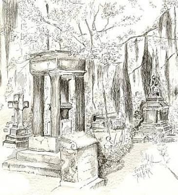 Saint Bonaventure Cemetery In Savannah Original