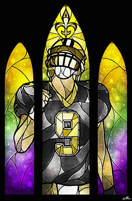Fleur De Lis Digital Art - Saint Brees by Mandie Manzano