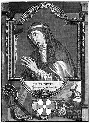 Saint Bridget (c1303-1373) Art Print by Granger