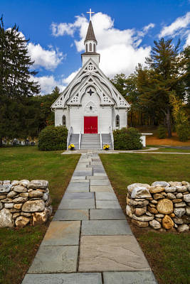 Photograph - Saint Bridget Catholic Church by Susan Candelario