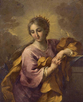 Rocca Painting - Saint Catherine by Michele Rocca
