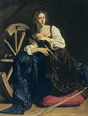 Saint Catherine Of Alexandria Art Print by Caravaggio