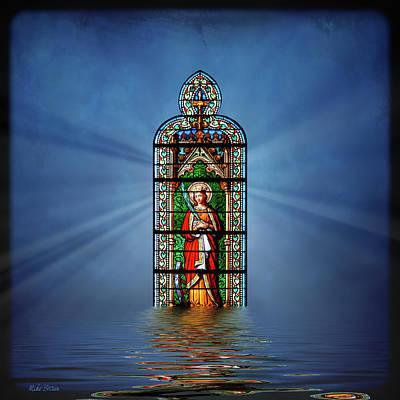 Digital Art - Saint Catherine Of Alexandria by Mike Braun