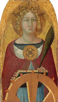 Painting - Saint Catherine Of Alexandria by Ugolino Lorenzetti