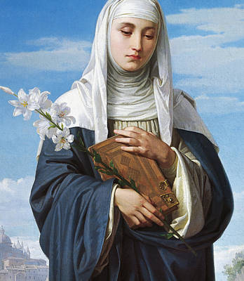 Saint Catherine Of Siena Art Print by Alessandro Franchi