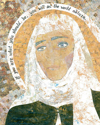Carol Cole Painting - Saint Catherine Of Siena by Carol Cole
