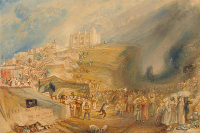 Marketplace Painting - Saint Catherine's Hill, Guildford, Surrey by JMW Turner
