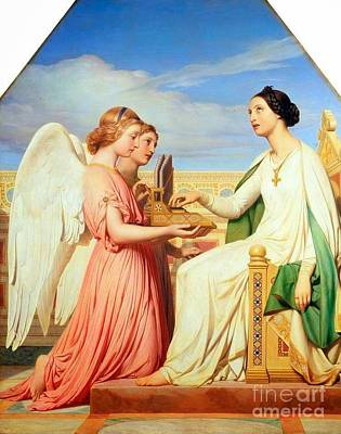 Saint Cecilia And The Angels Art Print by MotionAge Designs