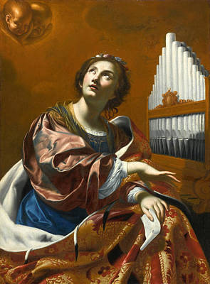 Cecilia Painting - Saint Cecilia by Circle of Simon Vouet