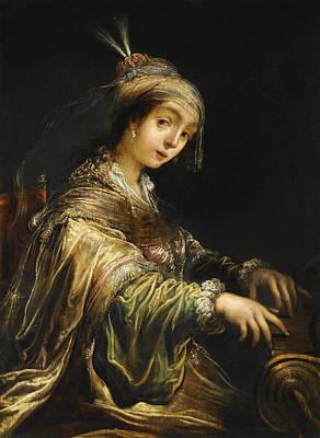 Cecilia Painting - Saint Cecilia by Claude Vignon