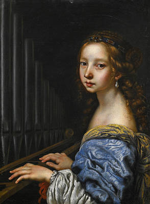 Painting - Saint Cecilia by Florentine School