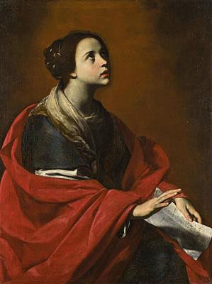 Cecilia Painting - Saint Cecilia by Massimo Stanzione