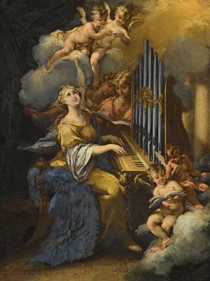Rocca Painting - Saint Cecilia by Michele Rocca