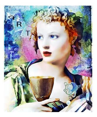 Woman Digital Art - Saint Cecilia Risen by Laura Botsford