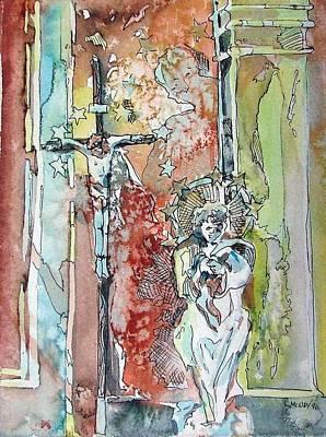 Saint Cecilia Ronda Spain Art Print by Mindy Newman