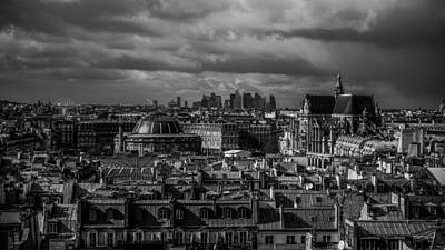 Photograph - Saint-chapelle Cathedral And Paris Skyline by Lawrence S Richardson Jr