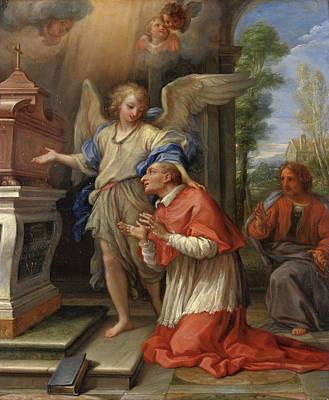 Borromeo Painting - Saint Charles Borromeo In Prayer by Giuseppe Bartolomeo Chiari