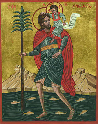 Saint Christopher Painting - Saint Christopher by Connie Wendleton