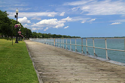 Photograph - Saint Clair Boardwalk Summer by Mary Bedy